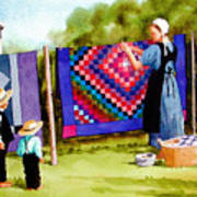 Airing The Quilts Art Print