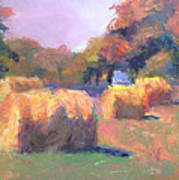Airmont Hay Bales Morning Art Print