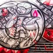Airplane Grafitti Art Print