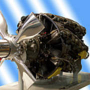 Airplanes Prop And Engine Art Print