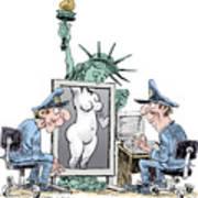 Airport Security And Liberty Art Print
