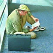 Airport Wait Art Print