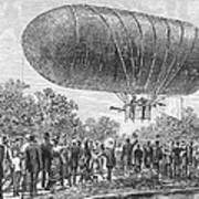 Airship Ascent, 1883 Art Print