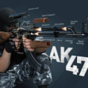Ak-47 Infographic Art Print