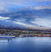 Akureyri Port Art Print