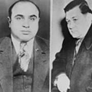 Al Capone Left And His Rival, George Art Print by Everett