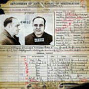 Al Capone Mugshot And Criminal History Art Print