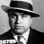 Al Capone Mugshot Painterly Art Print