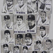 Al East Champions Red Sox Newspaper Poster Art Print by Dave Olsen
