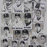 Al East Champions Red Sox Newspaper Poster Art Print