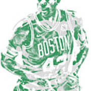 Al Horford Boston Celtics Pixel Art 6 Art Print