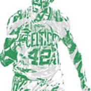 Al Horford Boston Celtics Pixel Art 7 Art Print