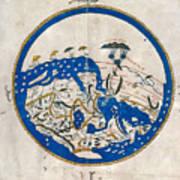 Al-idrisi's World Map Art Print
