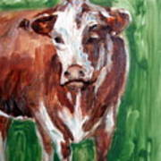 Alabama Cow Art Print