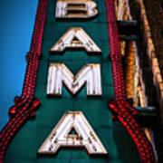 Alabama Theater Sign 1 Art Print