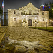 Alamo Reflection Art Print
