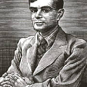 Alan Turing, British Mathematician Art Print