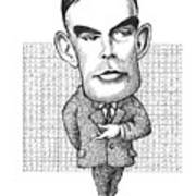 Alan Turing, British Mathematician Art Print