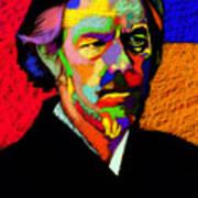 Alan Watts Portrait Art Print