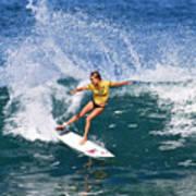 Alana Blanchard Surfing Hawaii Art Print