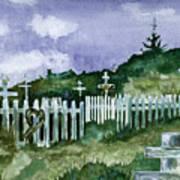 Alaska Graveyard  Art Print