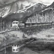 Alaska Railroad Near Whittier Art Print
