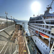 Alaskan Cruise Ship Berthed In Vancouver Art Print