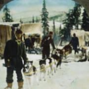 Alaskan Dog Sled, C1900 Art Print