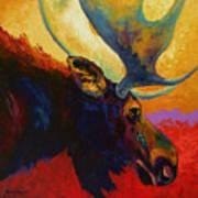 Alaskan Spirit - Moose Art Print by Marion Rose