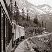 Alaskan Train Art Print