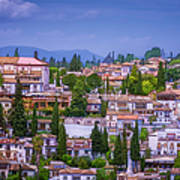 Albayzin View Granada Art Print