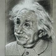 Albert Einstein Art Print by Anastasis  Anastasi