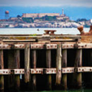 Alcatraz Beyond The Pier Art Print