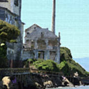 Alcatraz Island - Palette Knife Art Print