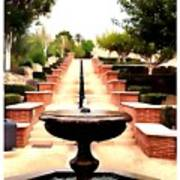 Alcazaba Fountain Art Print