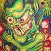 Alcoholic Demon Art Print