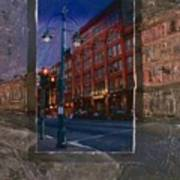 Ale House And Street Lamp Art Print