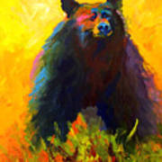 Alert - Black Bear Art Print