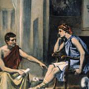 Alexander & Aristotle Art Print by Granger