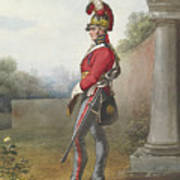 Alexander Ivanovitch Sauerweid 1783-1844 British Army. Private, Life Guards. About 1816 Art Print