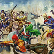 Alexander The Great At The Battle Of Issus  Art Print