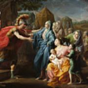 Alexander The Great Receiving The Family Of Darius IIi Art Print