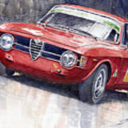 Alfa Romeo Giulie Sprint Gt 1966 Print by Yuriy  Shevchuk