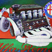 Alfa Romeo Indy Engine Art Print