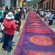 Alfombra In Purples Art Print