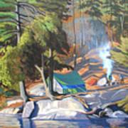 Algonquin Campsite Art Print