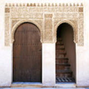 Alhambra Door And Stairs Art Print by Jane Rix