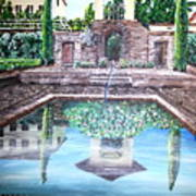 Alhambra Spain Reflections Art Print