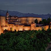 Alhambra Sunset Art Print