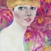 Ali Macgraw In Orange Hat Art Print